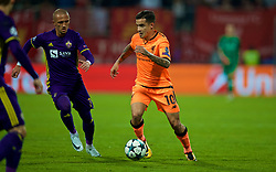 MARIBOR, SLOVENIA - Tuesday, October 17, 2017: Liverpool's Philippe Coutinho Correia during the UEFA Champions League Group E match between NK Maribor and Liverpool at the Stadion Ljudski vrt. (Pic by David Rawcliffe/Propaganda)