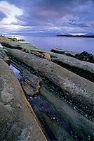 Sandstone along the beach, Hornby Island, BC