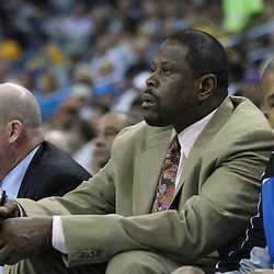 18 February 2009: Orlando Magic assistant coach Patrick Ewing (center) on the bench during a NBA basketball game between the Orlando Magic and the New Orleans Hornets at the New Orleans Arena in New Orleans, Louisiana.
