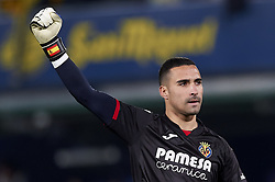 January 3, 2019 - Villarreal, Castellon, Spain - Asenjo of Villarreal celebrates the goal of his team during the week 17 of La Liga match between Villarreal CF and Real Madrid at Ceramica Stadium in Villarreal, Spain on January 3 2019. (Credit Image: © Jose Breton/NurPhoto via ZUMA Press)