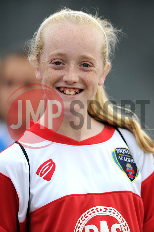 Bristol Academy fan, Hannah Marshall - Photo mandatory by-line: Dougie Allward/JMP - Mobile: 07966 386802 - 28/09/2014 - SPORT - Women's Football - Bristol - SGS Wise Campus - Bristol Academy Women's v Manchester City Women's - Women's Super League