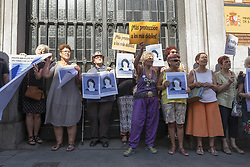 August 14, 2017 - Madrid, Spain - Demonstrations on 14 August 2017 in Madrid, Spain, in support of Juana Rivas, the maracenera mother who has been missing since last July 26 with her two minor children to avoid surrendering them to her Progenitor condemned in his day for mistreatment. (Credit Image: © Oscar Gonzalez/NurPhoto via ZUMA Press)