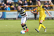 Forest Green Rovers Liam Noble(15) passes the ball forward during the Vanarama National League match between Southport and Forest Green Rovers at the Merseyrail Community Stadium, Southport, United Kingdom on 17 April 2017. Photo by Shane Healey.