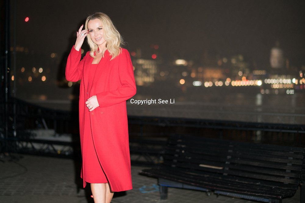 London, England, UK. 29th November 2017. Amanda Holden launches npower Light Sky in aid of Macmillan Cancer Support at Observation Point, Southbank.