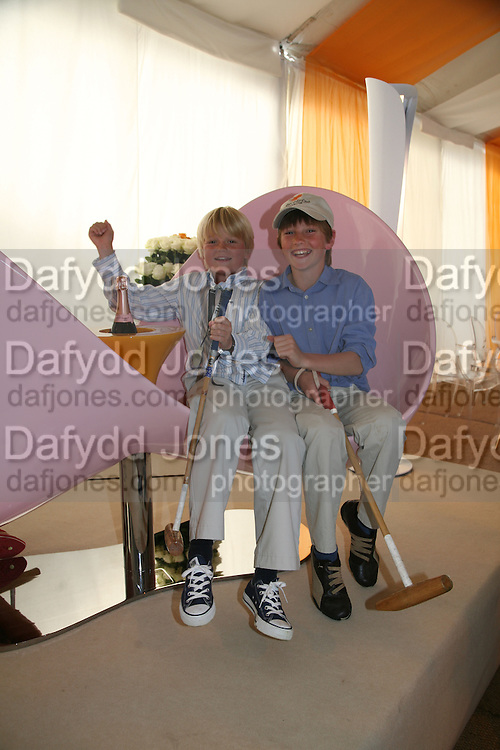 George Pearson and Francis Hodgson, The Veuve Clicquot Gold Cup 2007. Cowdray Park, Midhurst. 22 July 2007.  -DO NOT ARCHIVE-© Copyright Photograph by Dafydd Jones. 248 Clapham Rd. London SW9 0PZ. Tel 0207 820 0771. www.dafjones.com.
