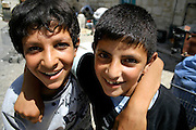two palestinian boys playing