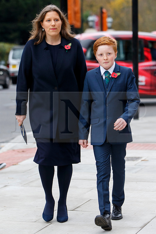 © Licensed to London News Pictures. 03/11/2015. London, UK. Charles Kennedy's ex-wife Sarah Gurling and his son Donald Kennedy attending a memorial service for ex-Liberal Democrat leader Charles Kennedy at St George's Cathedral in London on Tuesday, 3 November, 2015. Mr Kennedy died suddenly on June 1, 2015 at the age of 55 after suffering a major haemorrhage as a result of a long battle with alcoholism. Photo credit: Tolga Akmen/LNP