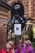 A Shakespeare recital on the 400th anniversary of the Bard's birthday, April 24th, on the steps of the now closed Carnegie Library in Herne Hill, south London. The local community occupied their important resource for learning and social hub and after a long campaign but now Lambeth have gone ahead and closed the library's doors for the last time because they say, cuts to their budget mean millions must be saved. They plan to re-purpose it into a gym although details are unknown.