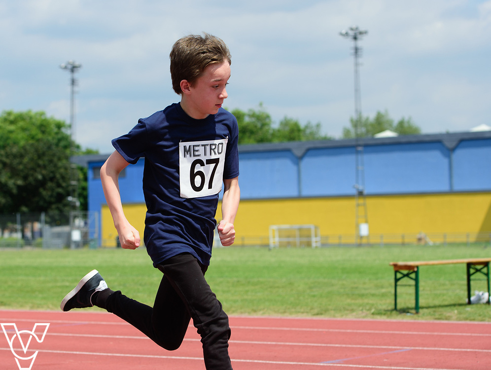 Metro Blind Sport's 2017 Athletics Open held at Mile End Stadium.  100m.  Competitor #67<br /> <br /> Picture: Chris Vaughan Photography for Metro Blind Sport<br /> Date: June 17, 2017