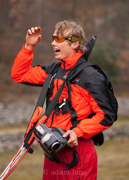 Leo Houlding after a BASE jump