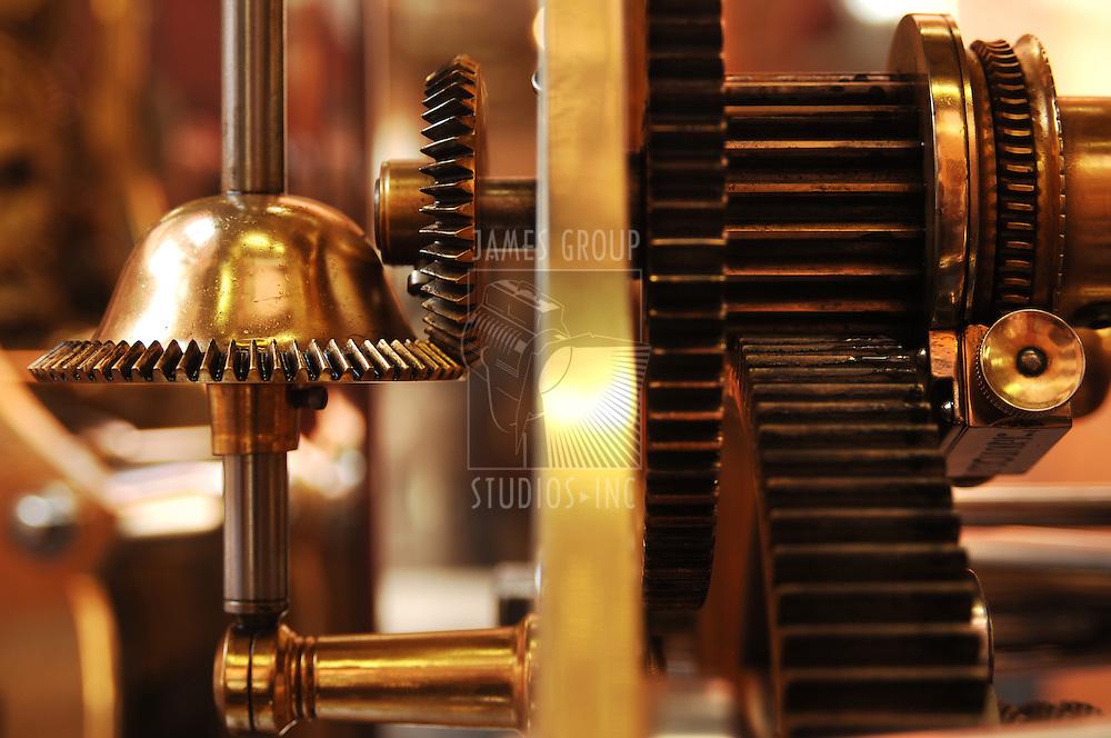 gears inside a large clock