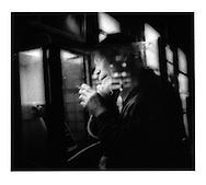 Night phone call and a smoke, Hatagaya, Tokyo, Japan.