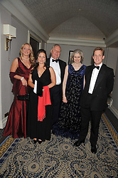 Left to right, the HON.SOPHIIE LYTTLETON, TARA STOOP, LORD & LADY COBHAM and CHARLES COPPER at the Matterhorn Challenge Ball in aid of Combat Stress as part of their 90th anniversary celebrations held at The Berkeley Hotel, London on 11th June 2009.