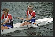 Henley, England,  GBR left,  Rachel HIRST/STANHOPE and Sue KEY 1990 Women's Henley Regatta, Henley Reach, River Thames Oxfordshire <br /> <br /> <br /> [Mandatory Credit; Peter Spurrier/Intersport-images] 1990 Henley Women's Regatta, Henley,
