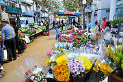 Open air market Lloret de Mar, Costa Brava, Spain