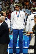 ATENE, 28 AGOSTO 2004<br /> BASKET, FINALE OLIMPIADI ATENE 2004<br /> CERIMONIA DI PREMIAZIONE<br /> NELLA FOTO: DENIS MARCONATO<br /> FOTO CIAMILLO