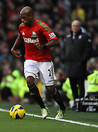 Picture by David Horn/Focus Images Ltd +44 7545 970036.29/12/2012.Dwight Tiendalli of Swansea City during the Barclays Premier League match at Craven Cottage, London.
