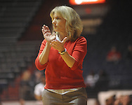 "Ole MIss Lady Rebels coach Renee Ladner at the C.M. ""Tad"" Smith Coliseum in Oxford, Miss. on Thursday, November 18, 2010. Arizona won 72-70."