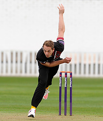 Somerset's Josh Davey - Photo mandatory by-line: Harry Trump/JMP - Mobile: 07966 386802 - 30/03/15 - SPORT - CRICKET - Pre Season Fixture - T20 - Somerset v Gloucestershire - The County Ground, Somerset, England.