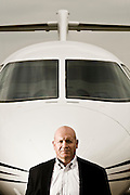 Jim Schuster, CEO of Hawker Beechcraft. These photos shot in Wichita KS, for Fortune Magazine.