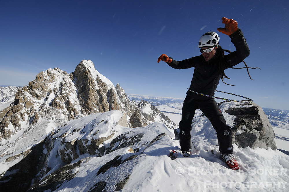 Middle Teton climb with Ryan Mertaugh and Charlie Thomas for Teton Hooping Contingency