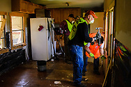 LERT volunteers clean out homes affected by recent flooding near St. Mark's Lutheran Ministries on Saturday, May 13, 2017, in Eureka, Mo. LCMS Communications/Frank Kohn