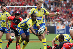 Sitiveni Sivivatu in action during the French Top 14 Semi Final match between ASM Clermont Auvergne and RC Toulon at the Stade de Toulouse on June 3, 2012 in Toulouse, France.