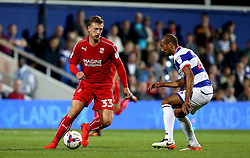 Luke Norris of Swindon Town takes on Karl Henry of Queens Park Rangers - Mandatory by-line: Robbie Stephenson/JMP - 10/08/2016 - FOOTBALL - Loftus Road - London, England - Queens Park Rangers v Swindon Town - EFL League Cup