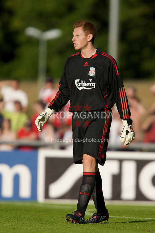 FRIBOURG, SWITZERLAND - Saturday, July 19, 2008: Liverpool's goalkeeper David Martin during a pre-season friendly match against Wisla Krakow at Stade St-Leonard. (Photo by David Rawcliffe/Propaganda)