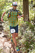 Kerhonkson, New York - Brennan Wysong runs along the trail at Minnewaska State Park Preserve during the Shawangunk Ridge Trail Run/Hike 32-mile race  on Sept. 20, 2014.