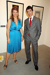 RORY STEWART and SOPHIA SWIRE at an exhibition in aid of the Turquoise Mountain Jewellery Programme at the Maddox Gallery, 52 Brook's Mews, London W1 on 9th September 2008.