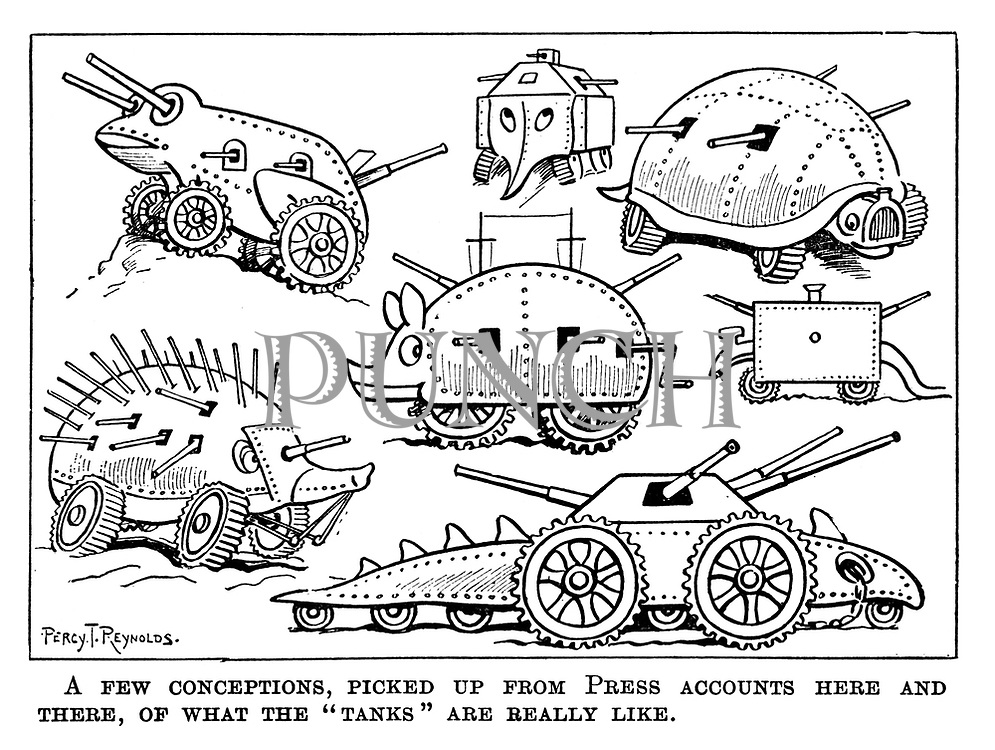 """A few conceptions, picked up from press accounts here and there, of what the """"tanks"""" are really like."""