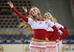 Cheerleading group Red Foxes of Ukraine during the EuroBasket 2009 Group F match between Slovenia and Turkey, on September 16, 2009 in Arena Lodz, Hala Sportowa, Lodz, Poland.  (Photo by Vid Ponikvar / Sportida)