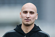 Jonjo Shelvey (#8) of Newcastle United arrives ahead of the Premier League match between Newcastle United and Swansea City at St. James's Park, Newcastle, England on 13 January 2018. Photo by Craig Doyle.