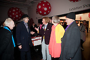ANTHONY FAWCETT; SIR BOB GELDOF; GRAYSON PERRY; PHILLIPA PERRY; JOHN DUNBAR, Yayoi Kusama opening. Tate Modern. London. 7 February 2012