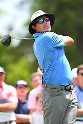May 4, 2019 - Charlotte, NC, U.S. - CHARLOTTE, NC - MAY 04: Joel Dahmen plays his shot from the third tee during round three of the Wells Fargo Championship on May 04, 2019 at Quail Hollow Club in Charlotte,NC. (Photo by Dannie Walls/Icon Sportswire) (Credit Image: © Dannie Walls/Icon SMI via ZUMA Press)