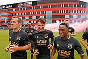 ALKMAAR - 25-06-2017, eerste training AZ. AZ speler Stijn Wuytens, AZ speler Joris van Overeem, AZ speler Ridgeciano Haps