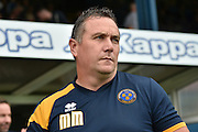 Shrewsbury Town Manager, Micky Mellon  during the EFL Sky Bet League 1 match between Bury and Shrewsbury Town at the JD Stadium, Bury, England on 10 September 2016. Photo by Mark Pollitt.