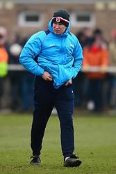 KEVIN WILKIN MANAGER BRACKLEY TOWN, Brackley Town v Wealdstone FA Trophy Semi Final First Leg, St James Park Saturday 17th March 2018. Score 1-0 (Alex Gudger)