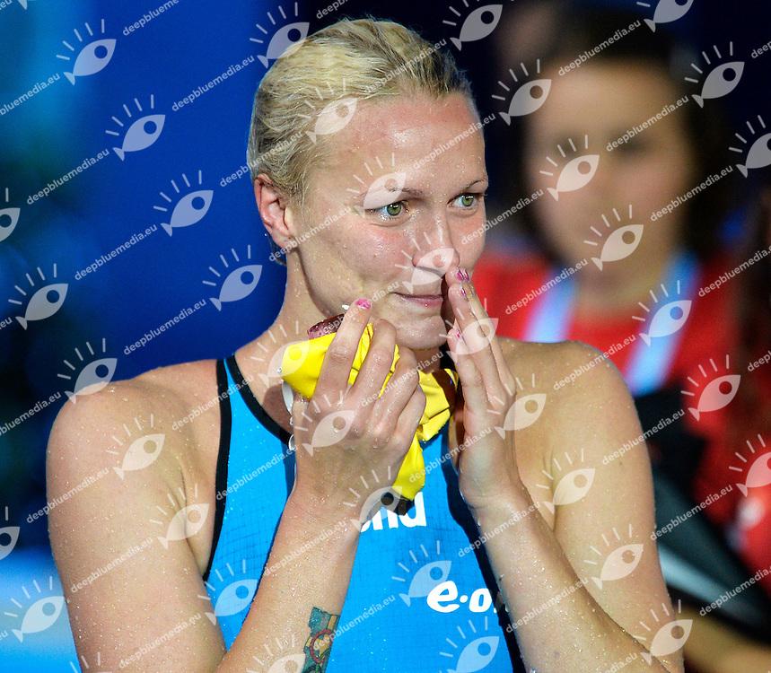 Sarah Sjostrom Sweden Gold Medal Women's 100m Butterfly <br /> Swimming - Nuoto <br /> Barcellona 29/7/2013 Palau St Jordi <br /> Barcelona 2013 15 Fina World Championships Aquatics <br /> Foto Andrea Staccioli Insidefoto