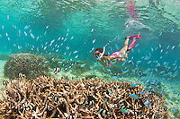 Guam Snorkeling at Ypao Beach at the Tumon Bay Marine Preserve
