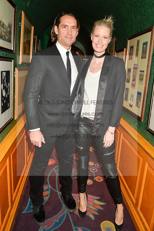 CAROLINE WINBERG and WYNTON FAURE at the 2nd Bright Young Things Back In London party held at Annabel's, 44 Berkeley Square, London on 11th February 2016.