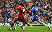 Photo: Paul Thomas.<br /> Liverpool v Chelsea. The FA Barclays Premiership. 19/08/2007.<br /> <br /> Fernando Torres of Liverpool scores.