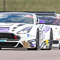 #17, Aston Martin Vantage GT3, TF Sport, driven by Derek Johnston and Matt Bell, 03/05/2015. British GT Championships at Rockingham