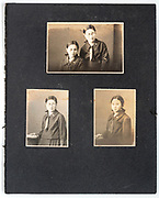 pages from a Japan 1930s family photo album