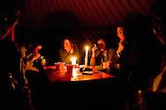 Mongolia. evening and preparation of a mea, little dumpling with muton meat, called BUUZ, Tserendorj family winter camp, inside the yurt,  in  in Buuk Nuur lake - height lakes area -  Orkhon valley -   / veillee , preparation du raps, petit dumpling fourre a la viande de mouton, appele BUUZ , campement de la famille Tserendorj, interieur de yourte,  lac de Buuk nuur , region des huit lacs  vallee de líOrkhon - Mongolie