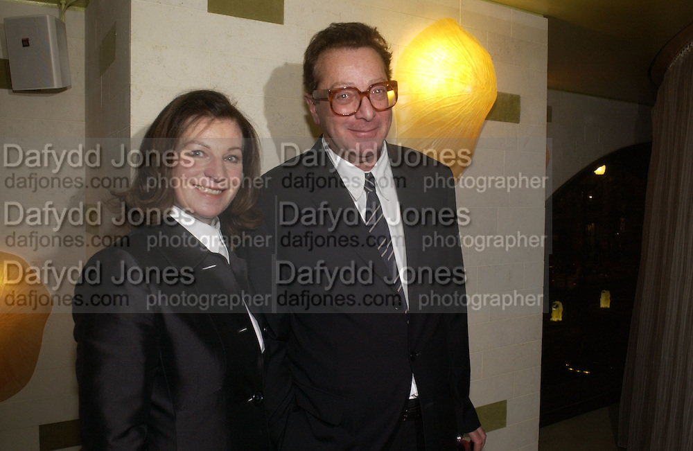 Lord Maurice  and Lady  Josephine Saatchi.  ( Josephine Hart) After party for 'Otherwise Engaged' which opened at the Criterion Theatre. London at Cocoon. Air St. 31 October 2005. ONE TIME USE ONLY - DO NOT ARCHIVE © Copyright Photograph by Dafydd Jones 66 Stockwell Park Rd. London SW9 0DA Tel 020 7733 0108 www.dafjones.com