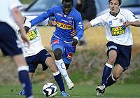 Fotball<br /> 21.02.10<br /> La Manga<br /> Treningskamp<br /> AGF Aarhus - Sandefjord 1 - 0<br /> Mane Malick , Sandefjord<br /> Foto : Astrid M. Nordhaug
