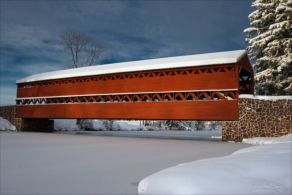Sach's Covered Bridge in the Winter