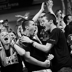 Kyle Green | The Roanoke Times<br /> March 12, 2011 Hidden Valley High School fans react after Taylor Walker (not pictured) hit a three pointer to tie the game with 20 seconds left against Potomac Falls High School during the Group AA Division 4 Boys final game  at the 2011 VHSL basketball championships held at the Siegel Center in Richmond, Virginia. Potomac Falls defeated Hidden Valley 58-55.